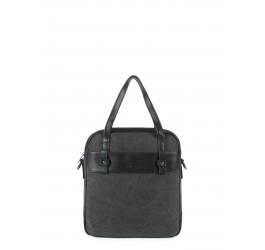 Sac porte main canvas cuir Brenner